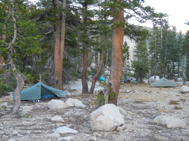 Our campsite on Silver Pass Creek.