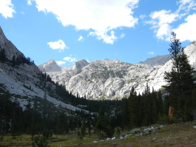 Getting close to Grouse Meadows and our camp for the night.