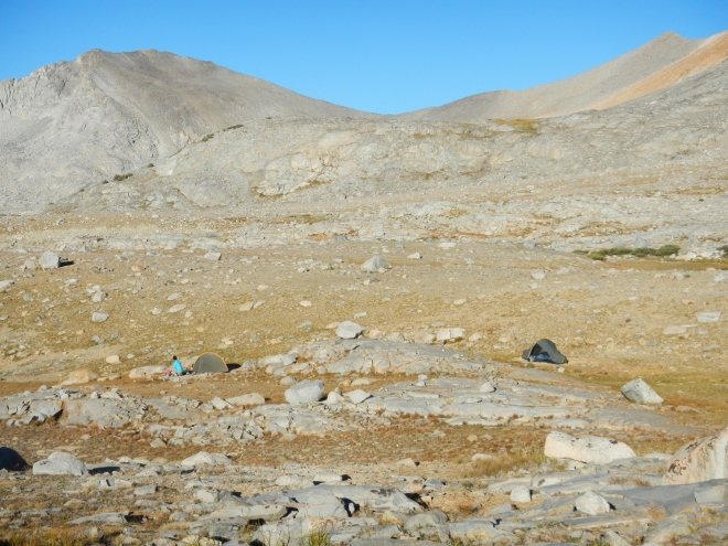 Near our campsite south of Mather Pass. Beautiful desolation.