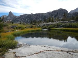 Finally! We approach Rae Lakes.