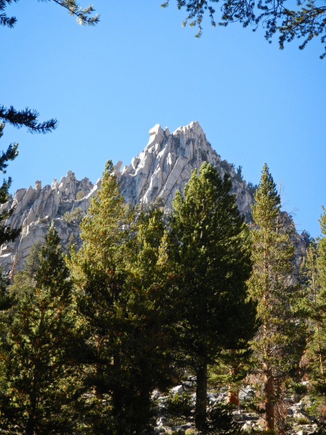 Vidette Peak, as viewed from our campsite. A vedette is a term for a sentry