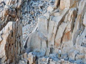 The trail from the junction to the top of Whitney was crazy with fractured rock spires.