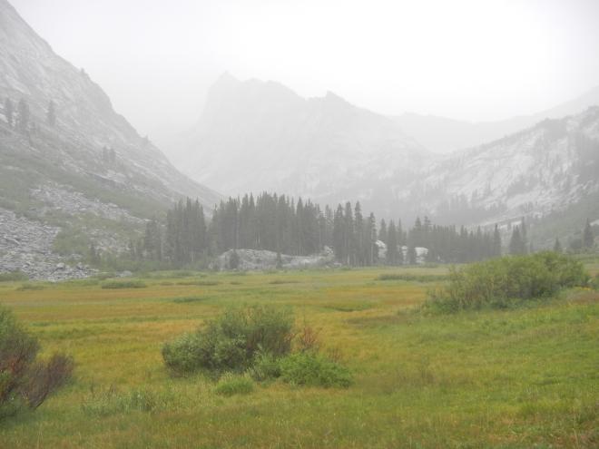 Approaching Ranger Meadows, aka Rain-grrr Meadows