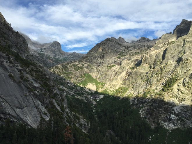 Looking east toward Kaweah Gap from the High Sierra Trail, July 3, 2015