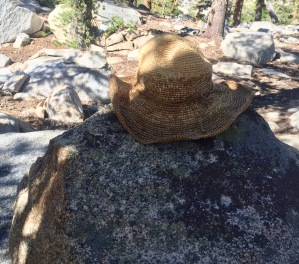 Someone lost their hat on the trail. Looks like it has seen a few miles.